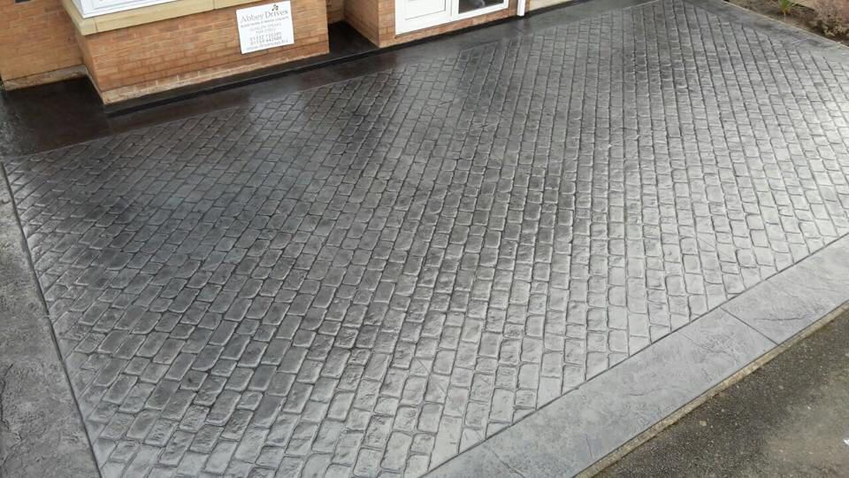 Pattern Imprinted Concrete Driveways