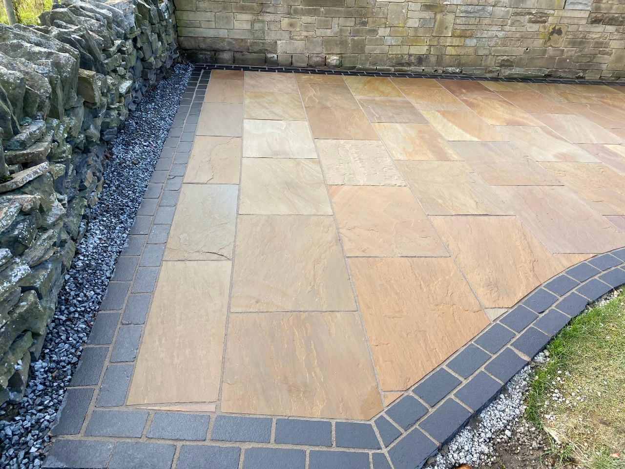Indian Flagstone Driveway