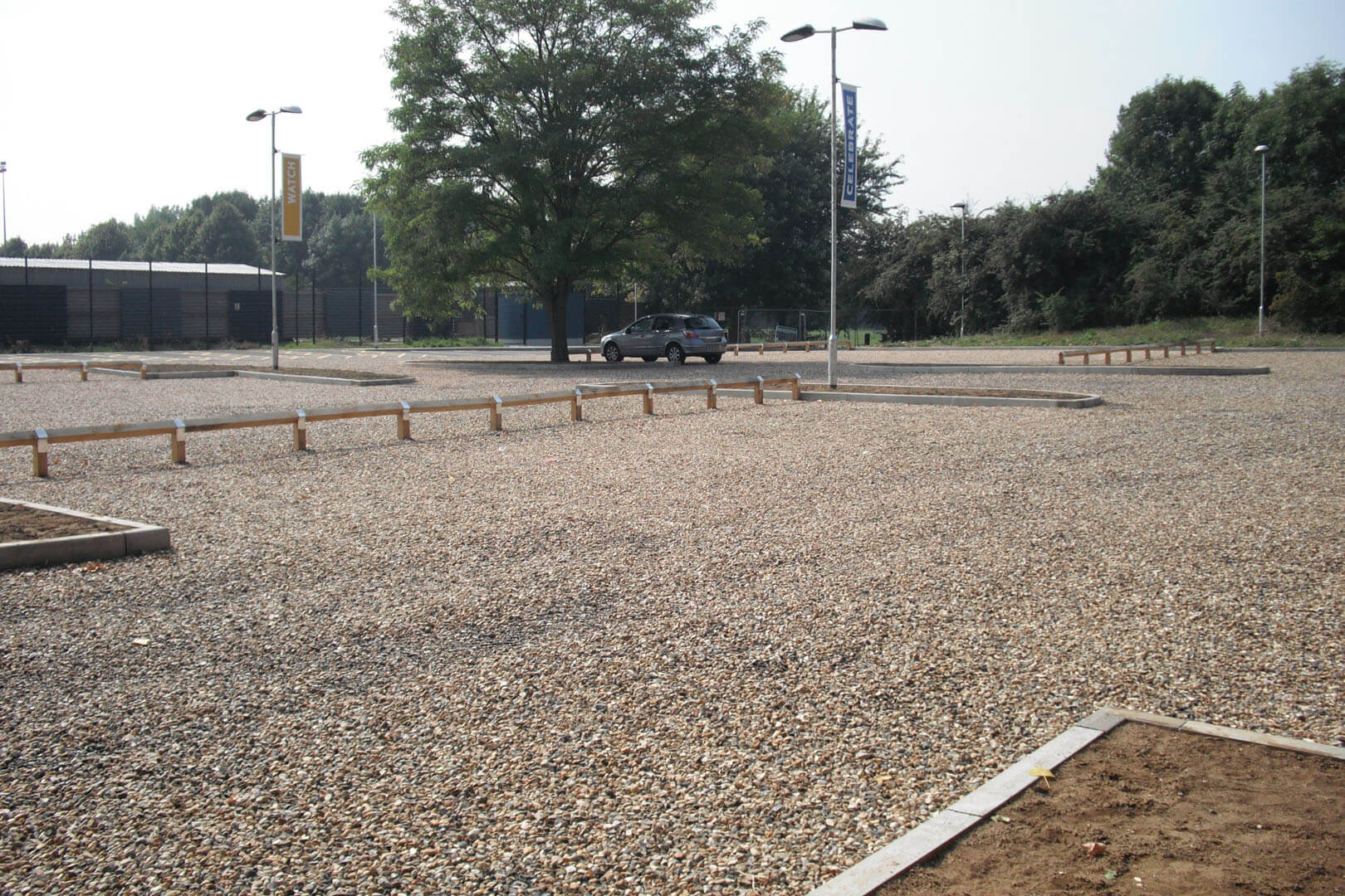 Gravel car park area