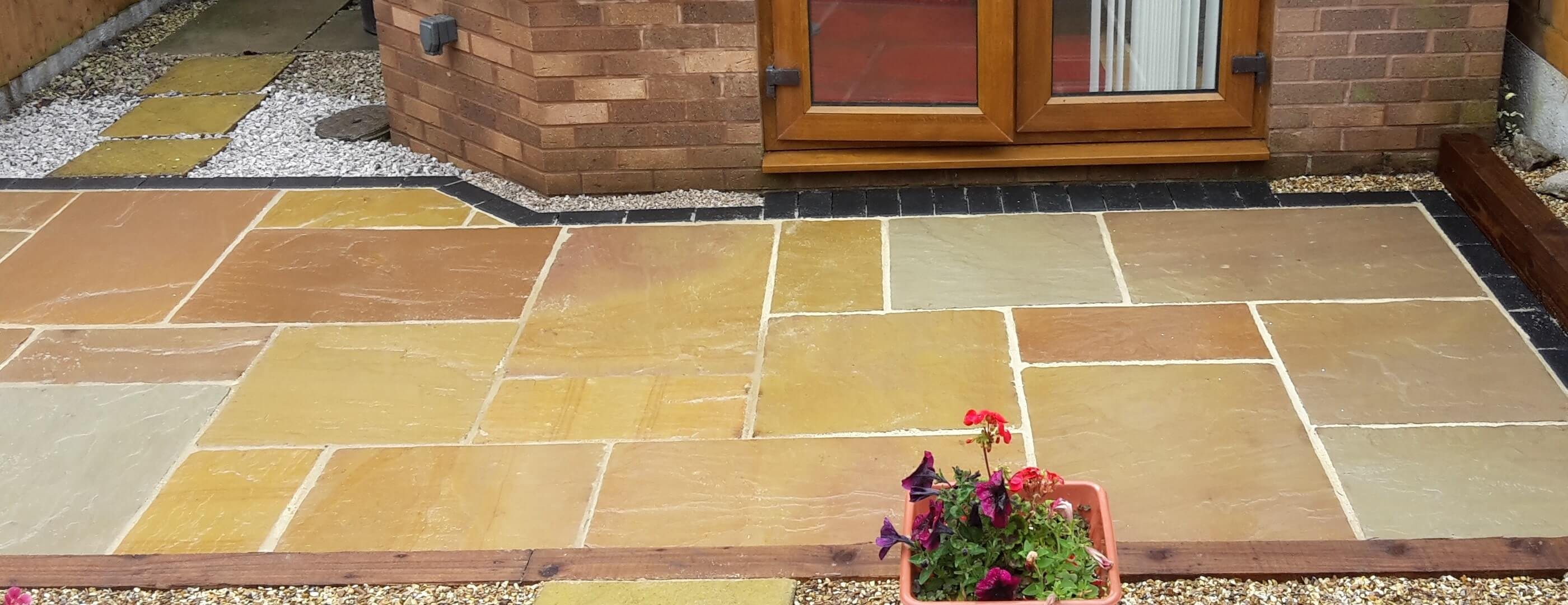 Flagstone patio area