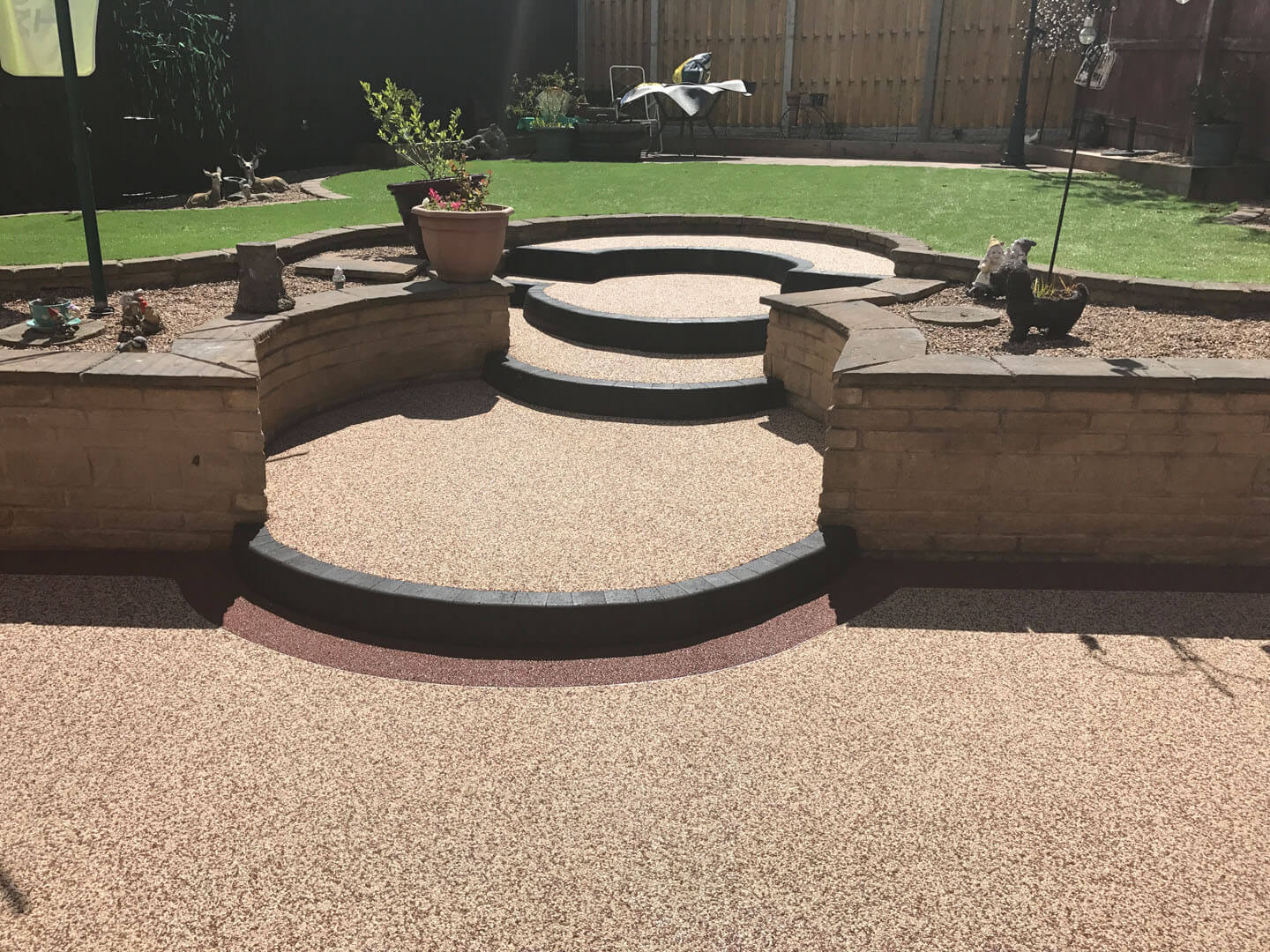 Resin driveway and steps