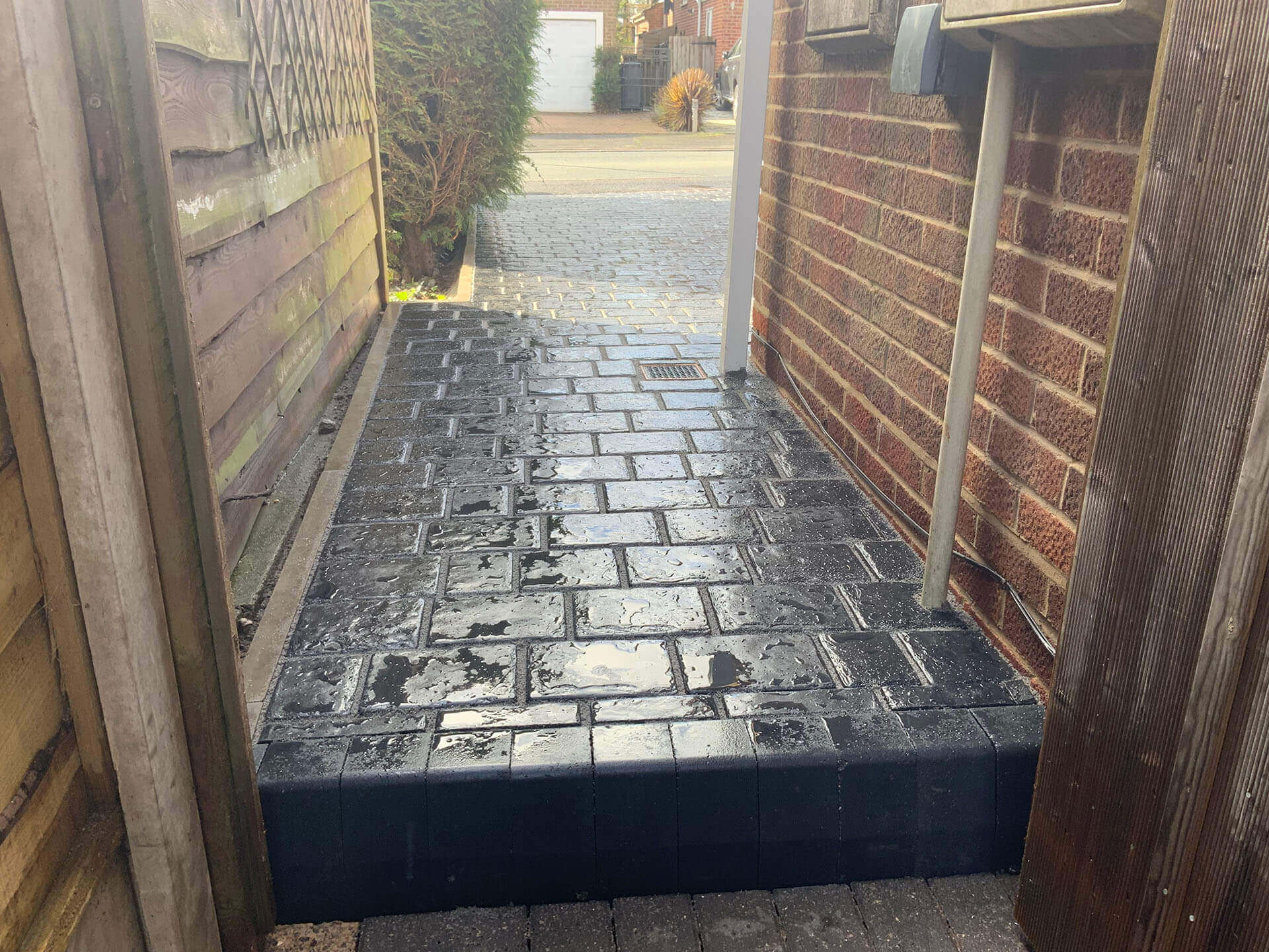 Side of property block paving