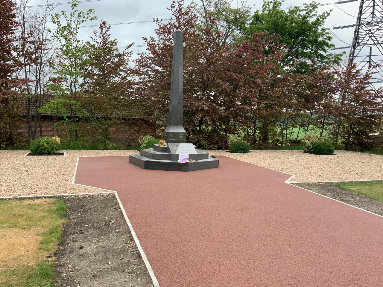Resin footpath to memorial