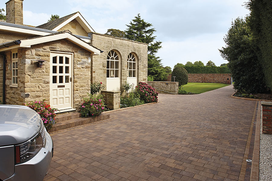 Block paving in front of cottage